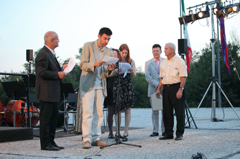 photo of Roy Menarini ceremony 2012